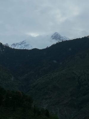 The 'Dhauladhar Range' or the 'White Range' is a part of Himalayan chain of mountains.