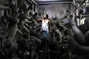 A notepad and Kumartuli