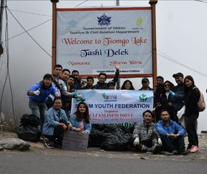 A small gesture towards cleaner Tsomgo Lake