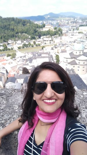 View of Salzburg from the top of Hohensalzburg Fortress. #SelfieWithAView #TripotoCommunity
