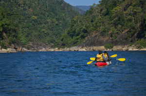 Kayaking in Dawki, Meghalaya.