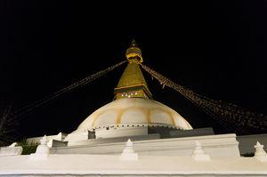 Visiting Boudha Stupa in Kathmandu, Nepal.