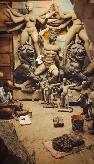 A day at Kumartuli, Kolkata's pottery district.
