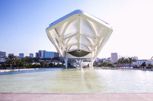 Visiting the museum of tomorrow in the city of Rio de Janeiro