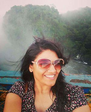 #SelfieWithAView #Tripotocommunity. Mist & beautiful view from Victoria falls bridge Zambia, Africa.