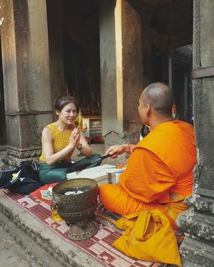 Lucky Red String Bracelet of Angkor Wat