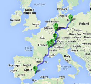 Hitching through Europe in 65 hours straight