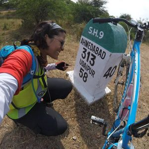 This 21-Year-Old Girl Rides Solo From Leh to Kanyakumari To Make A Point About Women Safety