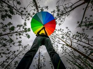 Rainbow Umbrella in this amazing Rainy Season