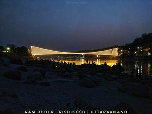 Ram Jhula at Rishikesh gets Lit