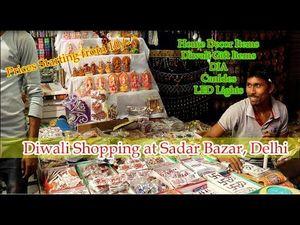 Decorative Items Market in Delhi - Sadar Bazar (Diwali Special)