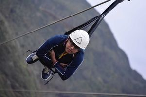 Zipline@Mauritius, 1.5KM Distance, From One Mountain to another.