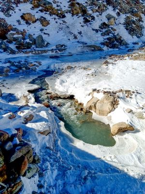 Glacier of Zero Point Sikkim