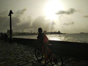 Exploring South Mumbai on Bicycle.