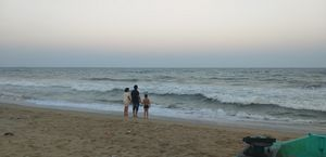 Marina beach at chennai and kapeeleshwar temple.. are a must visit