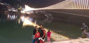 Laxman jhoola and Ram jhoola at Rishikesh... with evening at ghat of Ganga