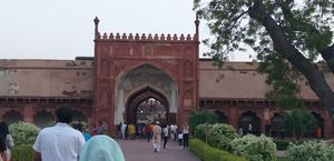 Red fort of Agra... made of red and white colour.. go back to an age of oppulance and of fairy tales
