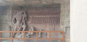 Udaygiri caves..... of gupta dynasty.. 1600 years old sculpture.