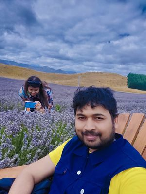 Selfie in Lavender field  of New Zealand   #SelfieWithAView #tripotocommunity#newzealand