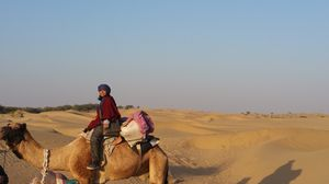 The Thar Trek- in the dunes ,on the camel