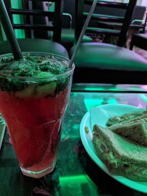 Hungry grab this chilled mojito and sandwich from OTH cafe