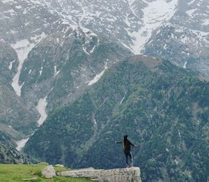 The famous cliff of Triund