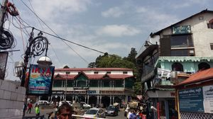 The Bustling Mall Road of Mussoorie