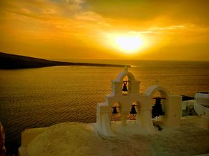 Sunsets, anywhere in Oia( Santorini) ,are breathtaking !!
