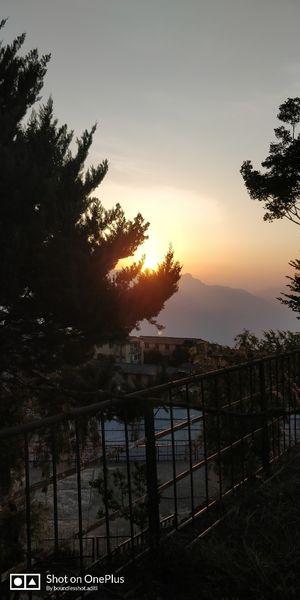 Sunrise with hills shine....