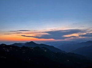 Sunset at Lal Tibba, Mussorie