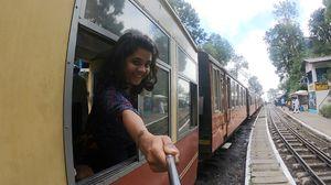 Shimla toy train happiness! #SelfieWithAView #TripotoCommunity