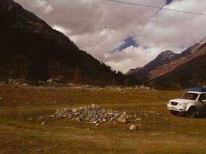 Glimpse of Himalayan range...