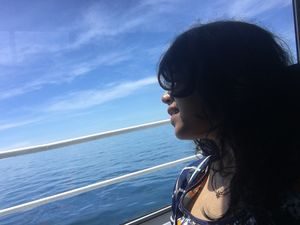 # Selfiewithaview      Yes there at that horizon...when i came flying to touch u when u came sailing