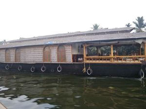 Beautiful houseboats at the god's own country, Kerala