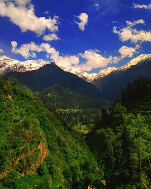 Breathtaking view from last Village of Parvati Valley #himachal #Tosh