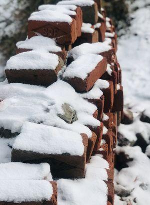 Mukteshwar - Snow on the road