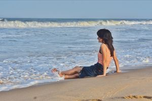 My first time on beach , Chennai