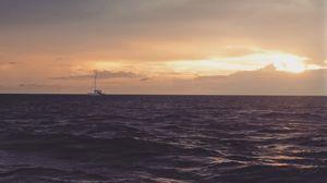 Sunset at maya bay, phi phi islands, thailand