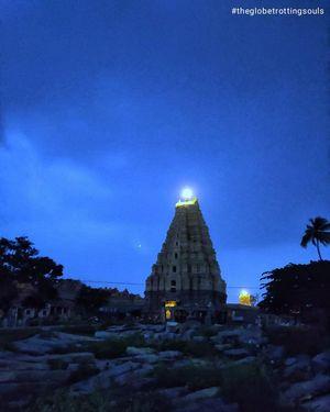 Night View of Virupaksha Temple