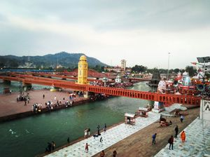 Haridwar-The most popular place in foreigner tourist and meet the holy river GANGA. #theriverganga