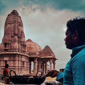 A guy and the temple .........