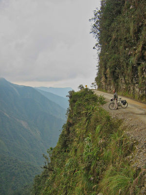 El Camino de la Muerte - the Bolivian death road. @lostcyclist trying to survive...