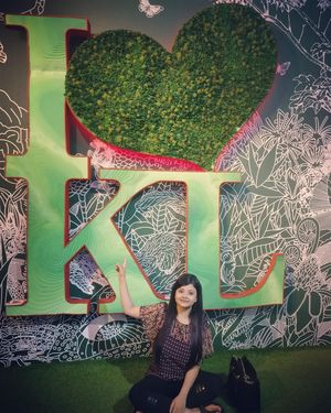 Green backdrops in KL #colourgreen