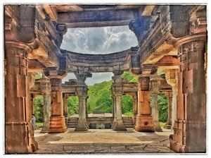 Jain temple ruins of polo forest - Gujarat