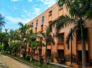 Backside of DAV Campus building in Abohar