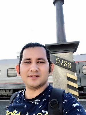 Nepalese Traveller at Vladivostok Train Station, Russia. YT:Nepalese Traveller