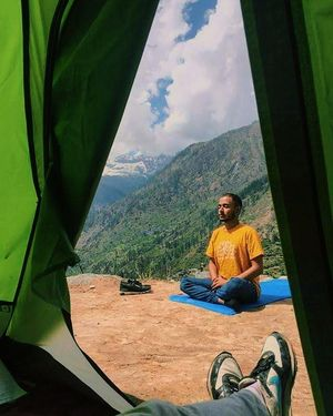 Yoga amidst Himalayas #colourgreen