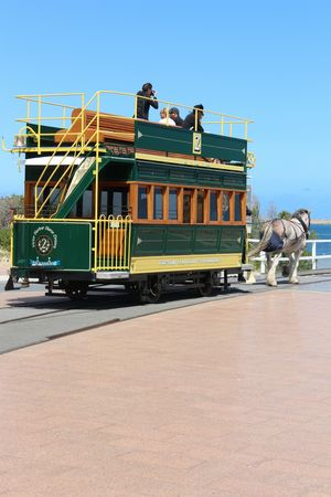 Victor Harbor horse drawn Tramway in Adelaide South Australia
