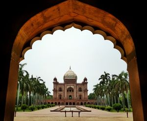 It is a sandstone and marble mausoleum in Delhi. It was built in 1754 in the late Mughal Empire