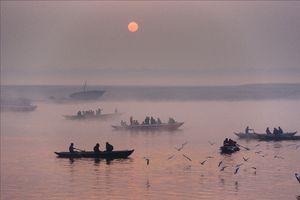 A  morning walk at banaras ghats.